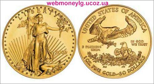 фото - золотая монета США Американский Золотой Орел